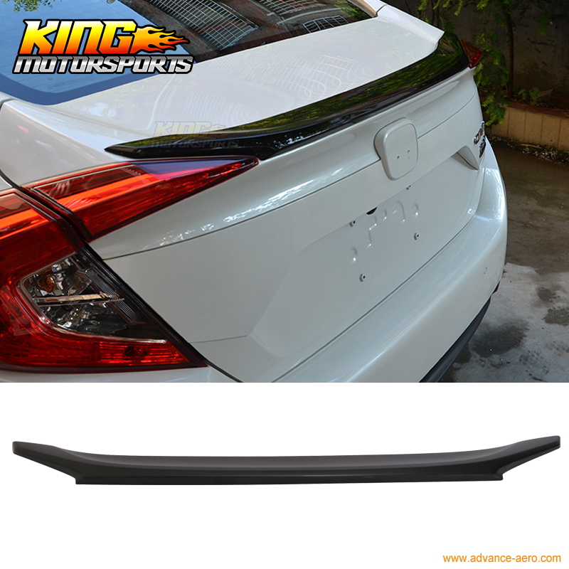 Fit For 16 17 Honda Civic 4Dr Sedan OE Style Unpainted Trunk Spoiler Decklid   ABS|trunk spoiler|spoiler for honda|spoiler trunk - title=