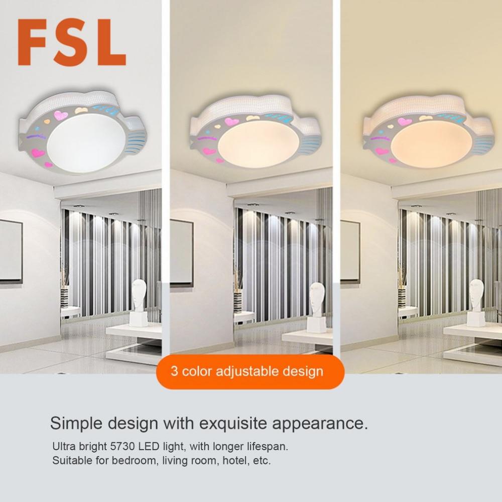FSL 24W kreativni ribe u obliku akril LED stropno svjetlo 3 boja - Unutarnja rasvjeta - Foto 4
