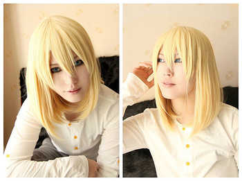 Howl's Moving Castle Wizard Howl Short Blonde And Short Black Heat Resistant Synthetic Hair Cosplay Costume Wig + Cap - DISCOUNT ITEM  5% OFF All Category