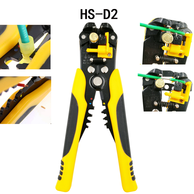 3 in 1 Multi tool Automatic Adjustable Crimping Tool Cable Wire Stripper Cutter Peeling Pliers D2 repair tools diagnostic-tool