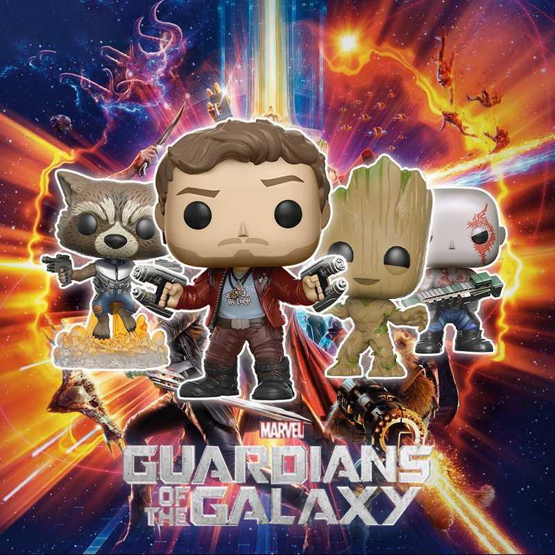 Funko pop Marvel Movie guardiers of the Galaxy 2 Star-Lord Rocket Grootted Коллекционная ПВХ фигурка игрушки для детей подарок