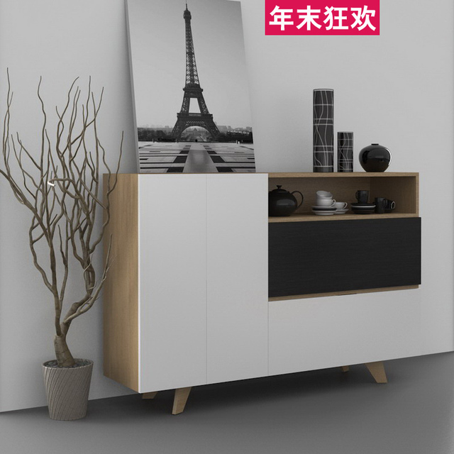 Restaurant Sideboard Joooi Modern Minimalist Scandinavian Style Bowl Cabinets White Paint Custom Wine Cabinet Side