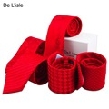 Classic 8.5cm Traditional Chinese Warm Red Necktie Nano Waterproof Business Party with Gift Packing