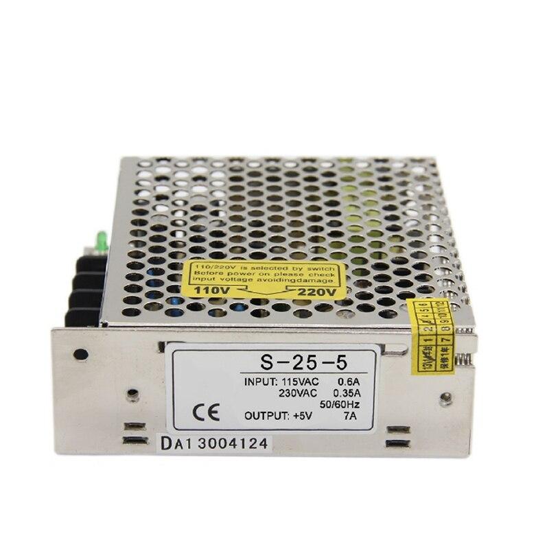 S-25-5 25 Watt 5 V 5A Ein-output dc Smps schaltnetzteil für Led-streifen, AC110V/220 V Transformator zu DC 5 V, led-treiber