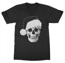 Christmas Skull T-Shirt Merry Holiday Santa Xmas Gift Ugly Sweater  Free shipping newest Fashion Classic Funny Unique