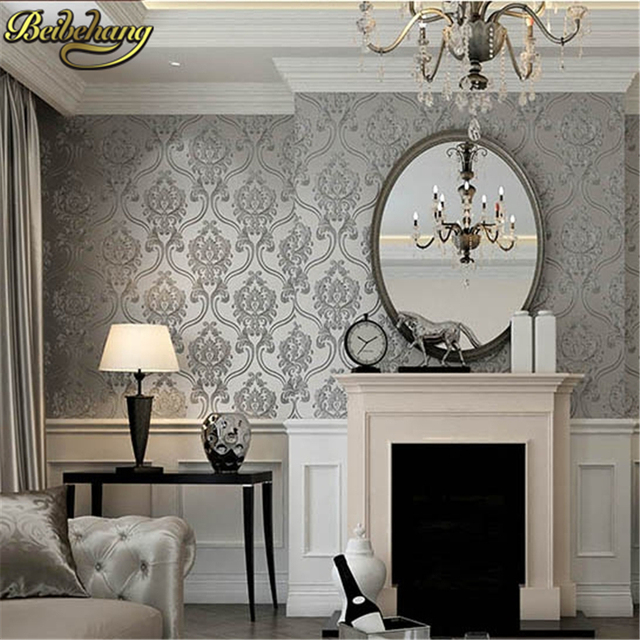beibehang non woven wallpaper for bedroom textured glitter ...