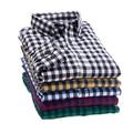 2016 camisa xadrez masculina primavera longo-sleeved camisa plus size escritório juventude camisa business casual homens