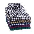 2016 primavera camisa de cuadros masculinos camisa de manga larga más tamaño juventud oficina ocasional camisa de los hombres