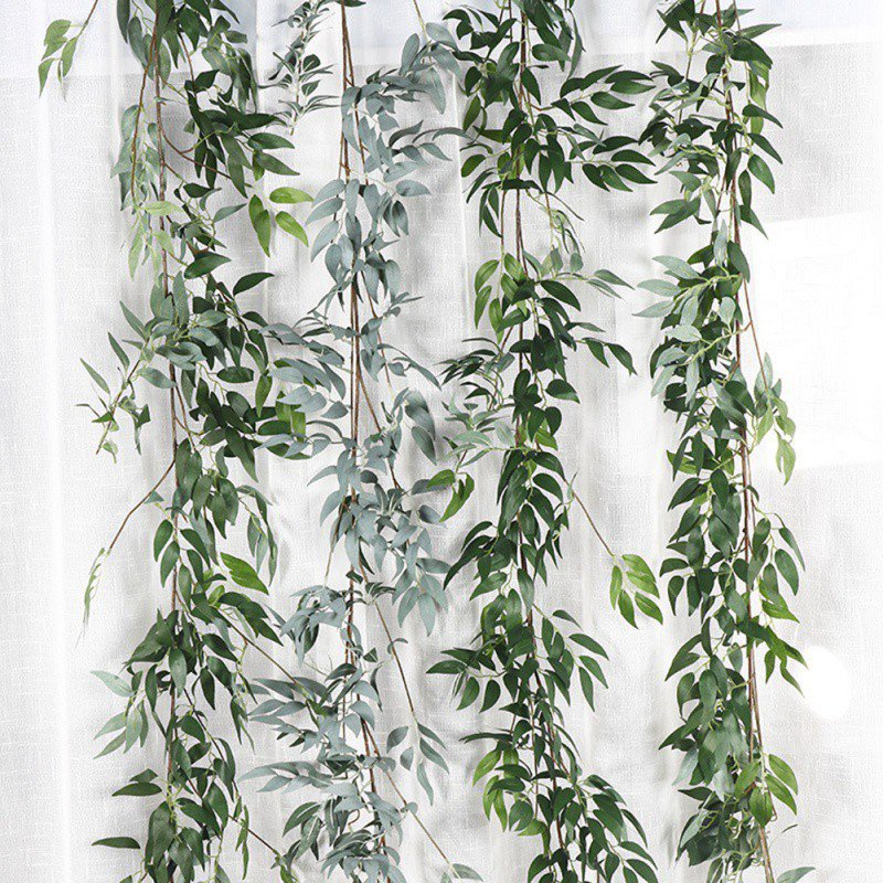 Artificial & Dried Flowers Diligent Plastic Artificial Flower Rattan String Artificial Ivy Green Leaf Garland Plants Vine Fake Foliage Flowers Home Decor Highly Polished