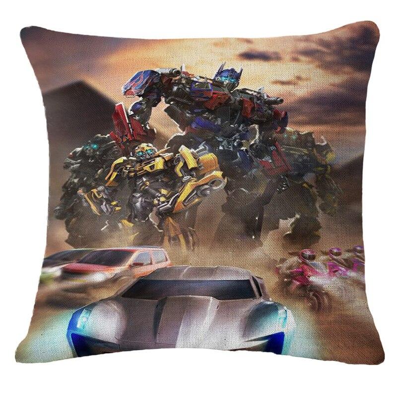 Autobots Große Biene Optimus Prime Gedruckt Stärken Comic Sofakissen Kissen 45*45 Cm Hohe Qualität Ramie Baumwolle Fabri Stärken Duftendes (In) Aroma