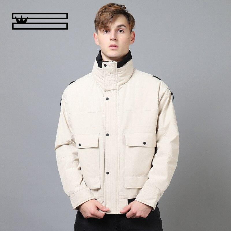 SHUANGGUN 2018 men's clothing jacket men   down     coat   outwear waterproof Windbreaker Men High Quality warm Jackets size L-XXXL