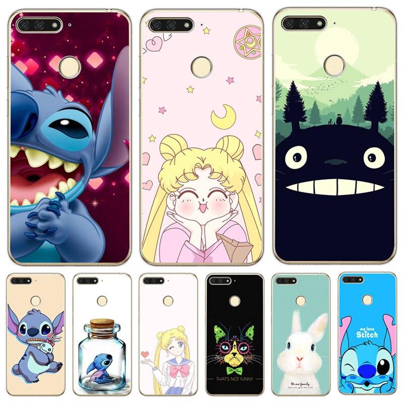 Luxury For Huawei Y5 Ii Y6 Prime Nova 2 3 3i Plus 2018 2017 Phone Case Cover Coque Etui Sailor Moon Stitch Totoro Cute Cartoon Last Style Cellphones & Telecommunications