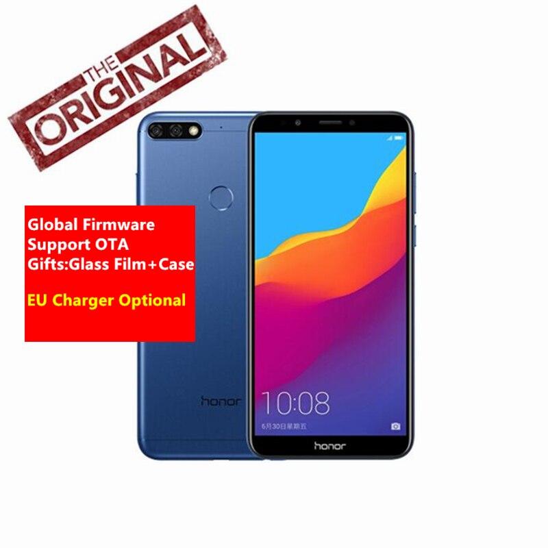Глобальной прошивки huawei Honor 7C Face ID Android 8,0 3g 32 г 5,99 дюймов Qu * lcomm 450 1,8 ГГц * 8 13MP двойной сзади Камера смартфонов