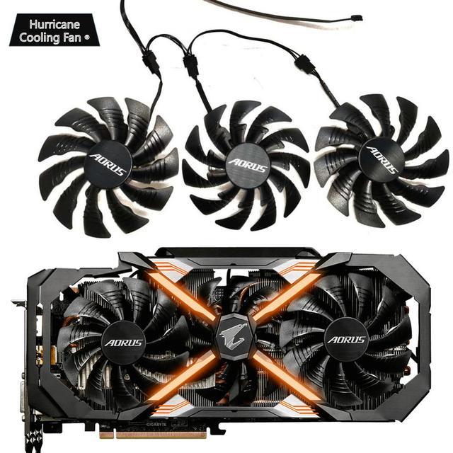 PLD10015B12H 12V 0.55A T129215BU per GIGAYTE AORUS GeForce GTX 1070 1080 Ti RTX 2060 1080Ti RTX2060 Xtreme Edition Gaming dispositivo di raffreddamento