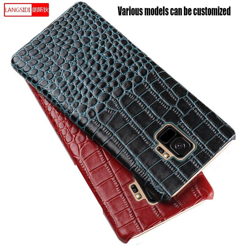LANGSIDI Originais do Couro Genuíno caso de telefone À Prova de Choque para LG V50 V40 V30 30plus 20 G5 Nexus 5X G7 G6 q6 tampa da caixa de Volta