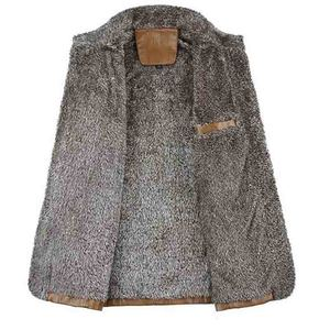 Image 3 - 2019 plus size 7xl 8xl inverno nova jaqueta de couro de veludo dos homens gola casaco de couro do plutônio masculino solto marca roupas