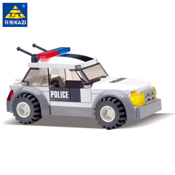 69Pcs City Police Traffic Patrol Vehicle Building Blocks Sets Playmobil Policeman DIY Bricks Educational Toys for children 788pcs city fire command center engine ladder truck building blocks sets creator bricks playmobil educational toys for children