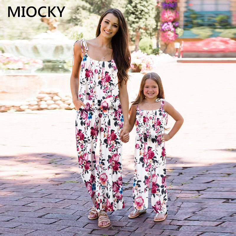 NASHAKAITE-Family-matching-clothes-Bohemian-Print-Shoulder-Bandage-Jumpsuit-Mommy-and-me-Jumpsuits-Mother-and-Daughter (3)