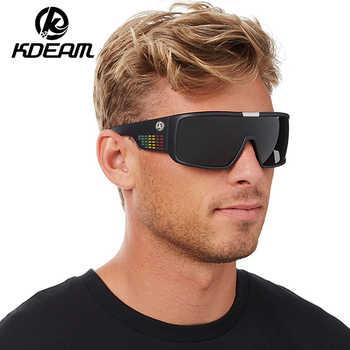 KDEAM Brand Sunglasses Men Sport Goggle Sun Glasses Polarized Windproof Shield Frame Reflective Coating Original case KD2514 - DISCOUNT ITEM  25% OFF All Category