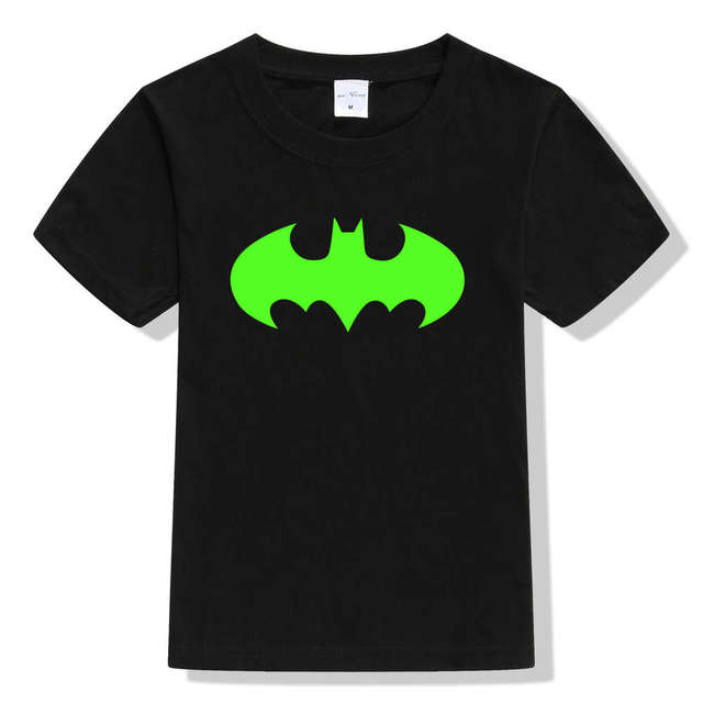 Glow in the dark t shirt kids fashion clothes