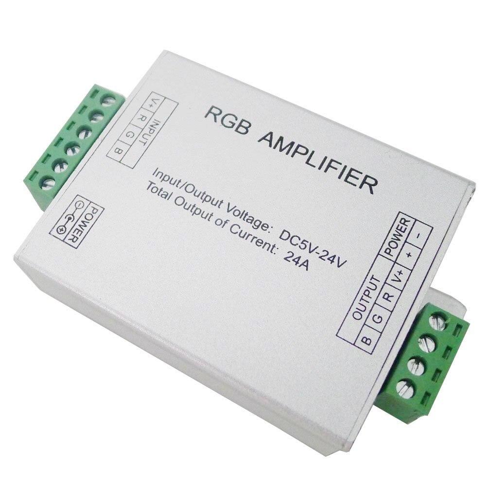 Datový zesilovač RGB signální zesilovač pro SMD 3528 5050 LED pásové světlo DC 5V 12V 24V 24A