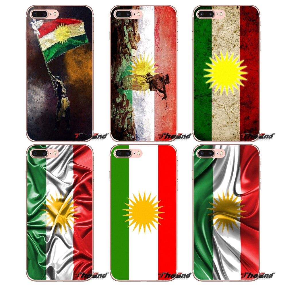 2019 Latest Design Kurd Kurdish Kurdistan Flag For Samsung Galaxy S2 S3 S4 S5 Mini S6 S7 Edge S8 S9 Plus Note 2 3 4 5 8 Coque Fundas Silicone Cover Evident Effect