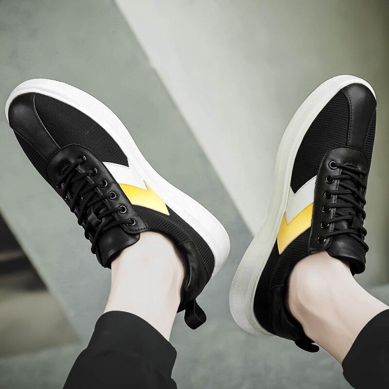 7f7e27abf ... Respirável Primavera Da Homem Vaca Os Homens Couro Sapatos amp; 2019  Black Sapato Nova Para