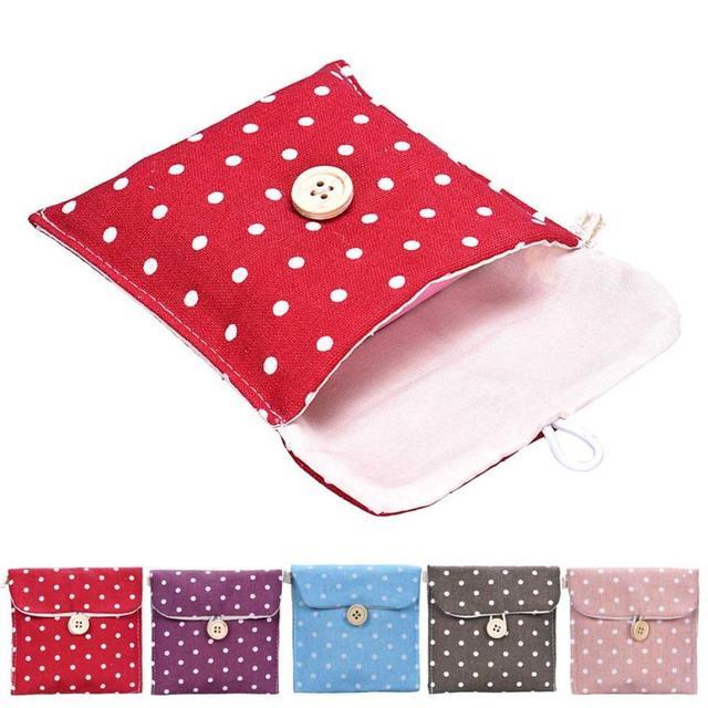2017 女の子の生理用ナプキンバッグブリーフ綿衛生収納袋旅行バッグ女性タオルホルダーポーチ化粧バッグ & ケース