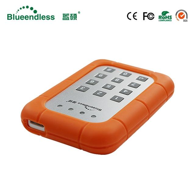 """5 Gbps tranmitt velocidad 2.5 """"HDD SATA USB 3.0 con disco duro dentro cifrado aluminio SATA HDD USB 3.0 caja con bloqueo"""