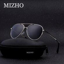 MIZHO Hot HD Visual Brand Elastic Support Sunglasses Men Polarized Aviador Alloy Vacuum Plating Strong UV Glasses Women Polaroid