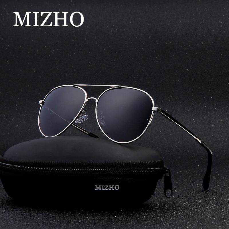 MIZHO Hot Elastic Support Leg Classic 2019 Metal Sunglasses Men Polarized UV400 Protector Drivers Car Black Sunglasses For Women