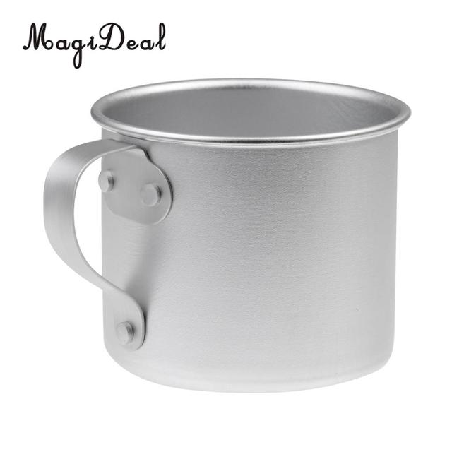 Magideal Top Quality 1pc Ultralight 300ml Camping Coffee Tea Mug Aluminum Travel Cup Backng For Outdoor