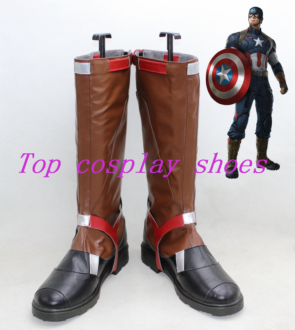 Captain America Avengers: Age of Ultron Cosplay Boots