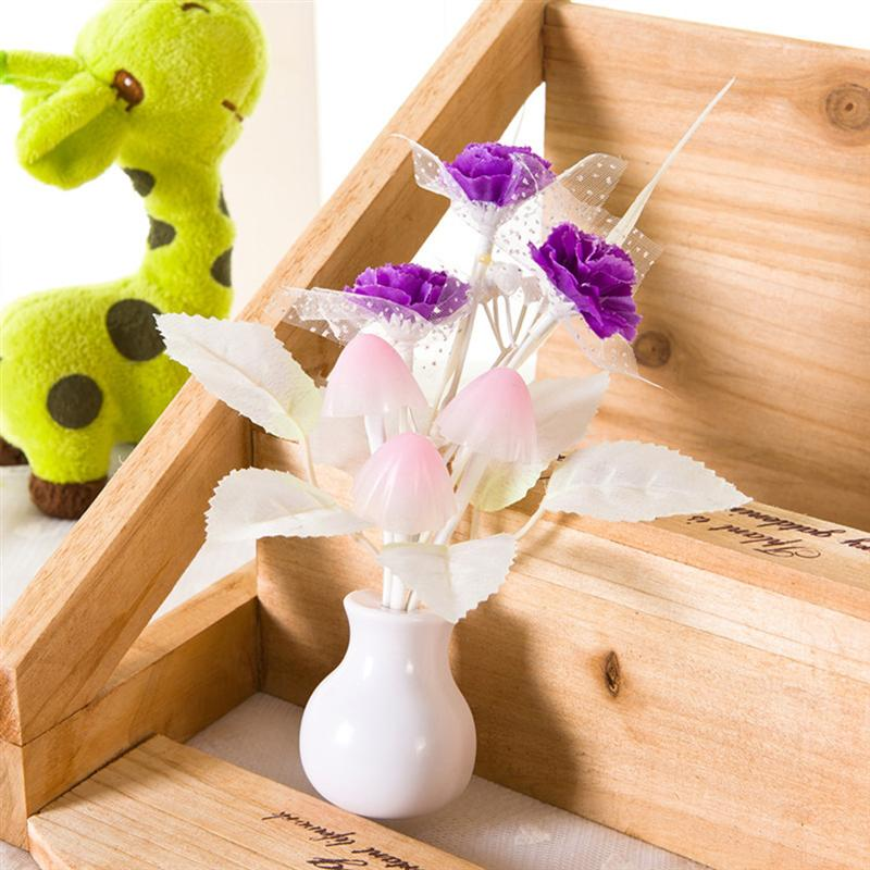 Tulip Flower LED Night Light Soft Romantic Sensor Baby Bed Room