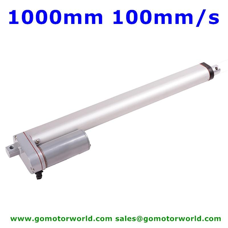 Smart Industry Actuator Linear 12V 24V 1000mm Stroke 1600N Load 100mm/s Speed Linear Actuator Manufacturer