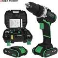 21 V Plus perceuse sans fil perceuse électrique 2 Batteries tournevis électrique outils électriques batterie Mini perceuse à main perceuse visseuse