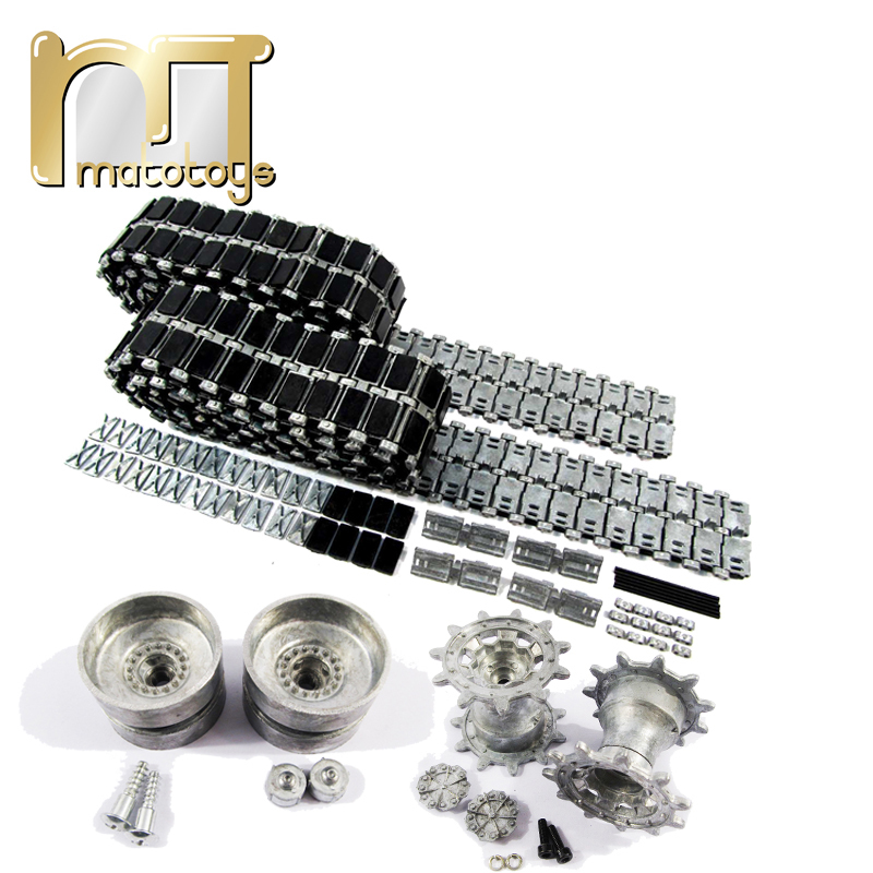 Mato 1 16 metal tracks metal sprockets metal idler wheels with bearings kit for Heng Long