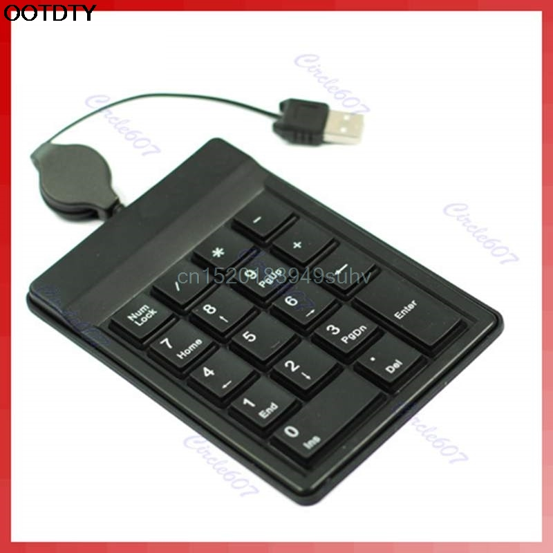 18 Keys USB Numeric Numerical Keypad Keyboard Pad for Laptop PC-  New hot