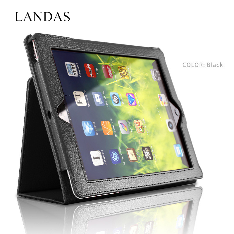 Landas Case For iPad 3 2 4 Case Auto Sleep Wake Up Flip Litchi TPU Leather Cover For ipad 2 3 4 Smart Stand Holder Tablet Cases