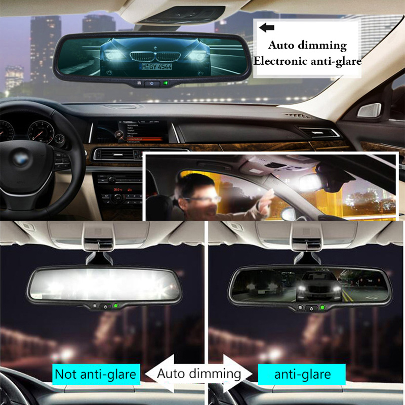 Image 2 - Sinairyu Car Electronic Auto Dimming Rearview Mirror, Special Bracket Replace Original Interior Mirror.-in Interior Mirrors from Automobiles & Motorcycles