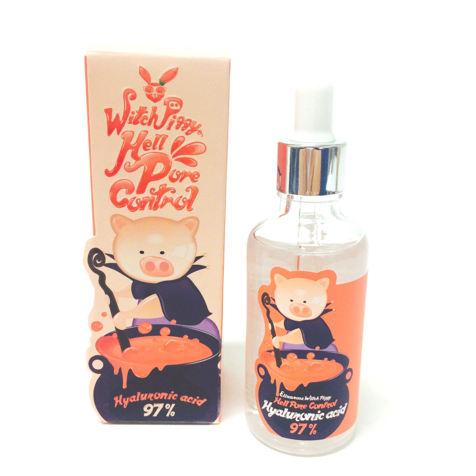 Korean Cosmetic Elizavecca Witch Piggy Hell Pore Control Hyaluronic Acid 97% 50ml Face Serum Crean Skin Care Facial Essence