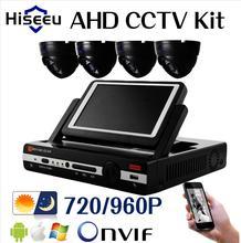 4CH CCTV Sistema AHDM 7 pulgadas visualizador DVR HDMI 4 UNIDS AHD 720 P 960 P IR Domo CCTV Cámara de interior Sistema de Seguridad Kits envío gratis