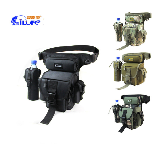 Best Price Ilure Outdoor lure fishing bag multi-function leg waist bags pack satchel haversack fishing tackle rod pack