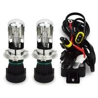 1pair High Quality Bixenon 35w 12V HID BIXENON REPLACEMENT Bulb H4 6000K Hi Lo Bixenon Hid