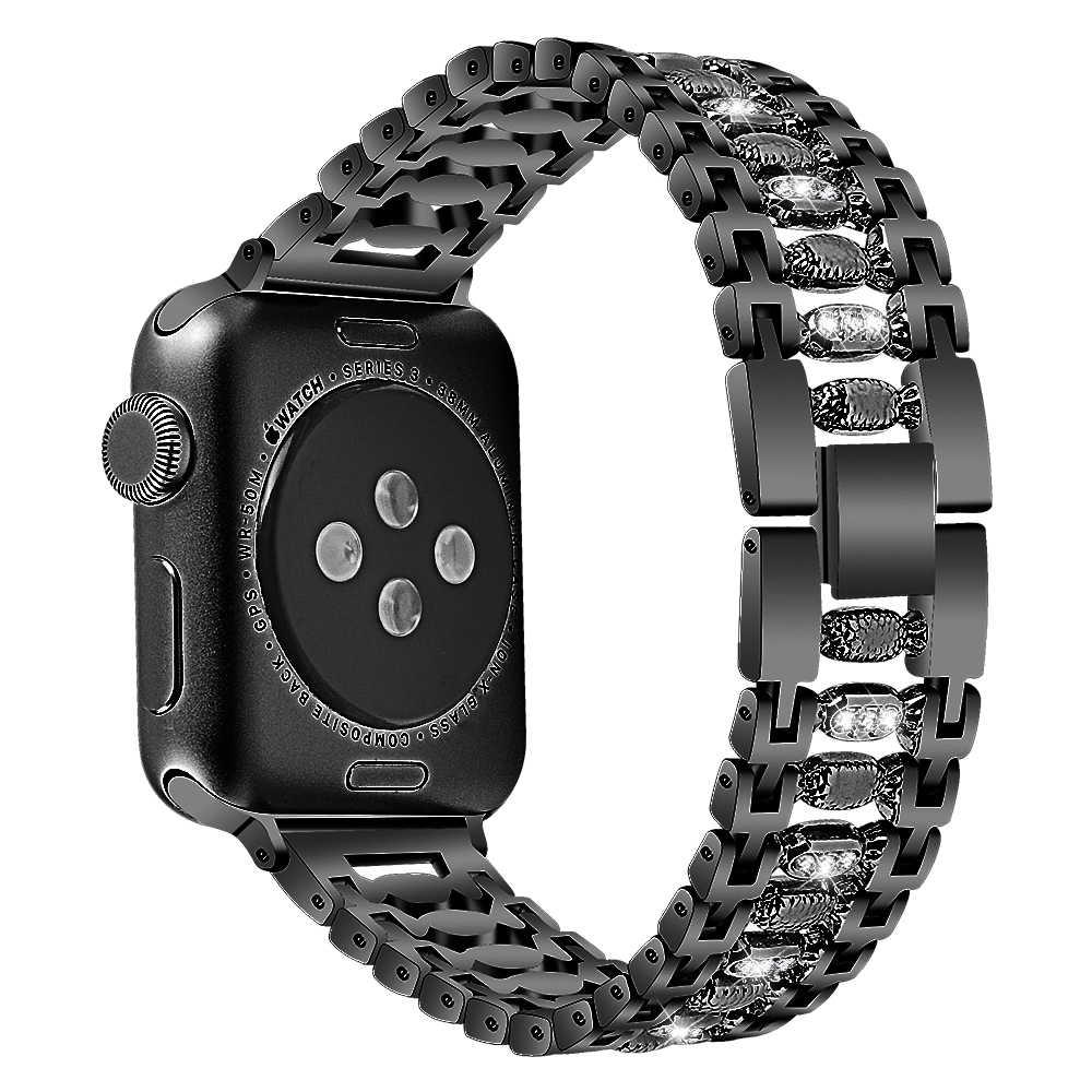 Joyozy in Acciaio Inossidabile Delle Donne di Bling Fascia per Apple Watch Band 38 Mm/42 Mm/40 Mm/44 Mm braccialetto Della Cinghia per Apple Watch 4/5/3/2/1 Fascia