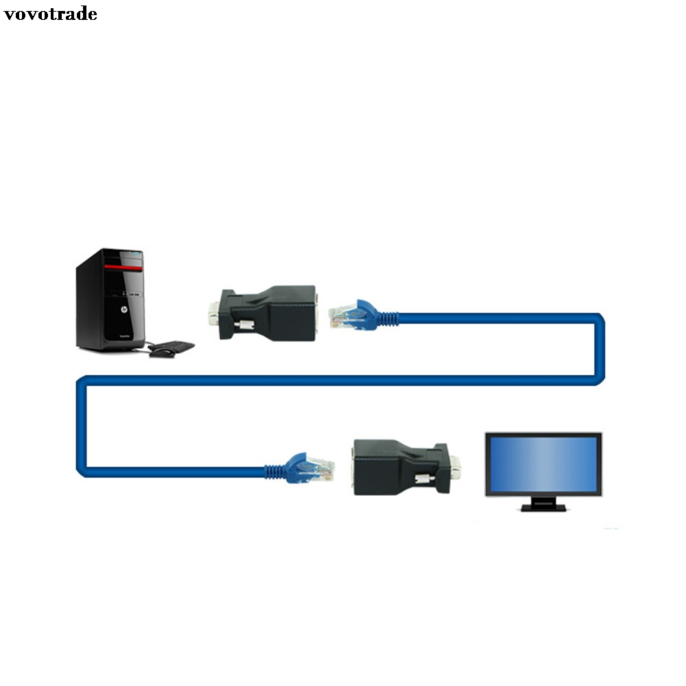 Trend Mark Professional Small Size Rj45 For Cat5 Ethernet Cable Lan Port 1 To 1 Socket Splitter Connector Adapter Back To Search Resultscomputer & Office