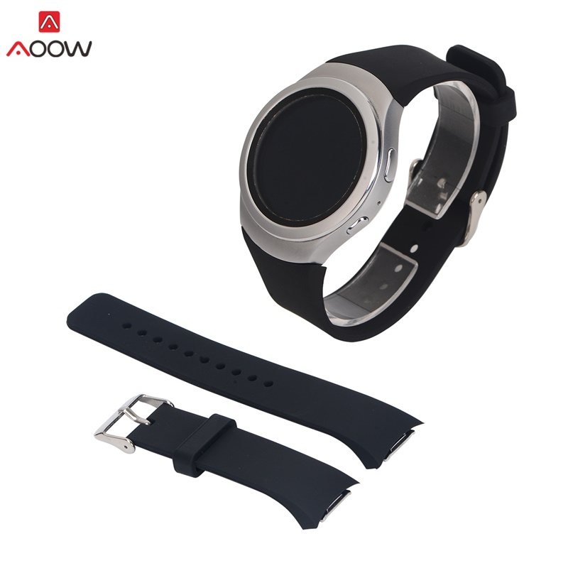 цена на AOOW Silicone Watchband for Samsung Galaxy Gear S2 R720 R730 Band Strap Sport Watch Replacement Bracelet SM-R720 16 Colors