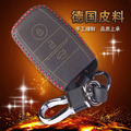 Leather Keychain Bag For Kia Sportage R K3 K4 K5 New Carens Sorento Leather Key Pouch 3 Button Smart Leather Car Key Case Cover