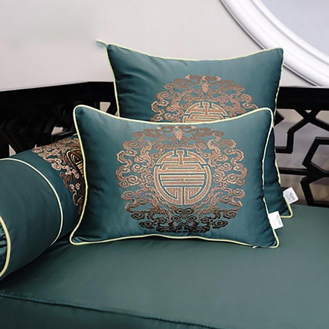 Luxury Round Geometric Decorative Sofa Pillow Cusion Leaves Sugar Skull Cushion Vintage Cushions Throw Pillows Llj424