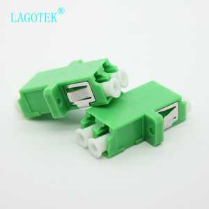 Image 3 - 25/50/100/200Pcs LC APC Duplex single mode Fiber optic Adapter LC Optical fiber coupler LC APC Fiber flange LC connector